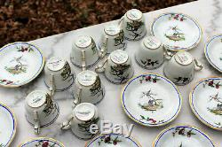 10 Demitasse Cups & Saucers Bernardaud Sceaux Limoges Fr 1968-1971 Bersce #5285