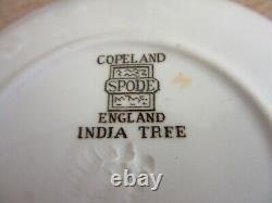 10 antique Copeland Spode India Tree porcelain Demitasse tea cups & saucers