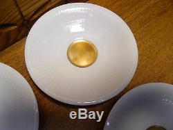 12 Rorstrand Sverige 492 Ribbed with Gold Accent Demitasse Cup & Saucer Sets
