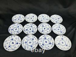 12 Royal Copenhagen BLUE FLUTED Plain Demitasse Cups & Saucers #1/298