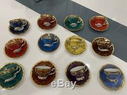 12Vintage Weimar porcelain Katharina 28010 Demitasse Set demitasse Cup & Saucer