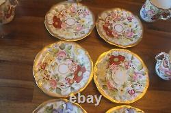 13 pc 6 sets Hammersley Queen Anne Coffee cups teacups tea saucer demitasse