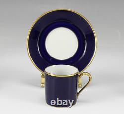 16pc H&C Heinrich Echt Kobalt Demitasse Cups and Saucers Deep cobalt blue
