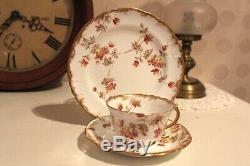 1890s Antique SPRAY No. 30 Demitasse Trio Tea Cup Saucer Plate Rust colour Rare