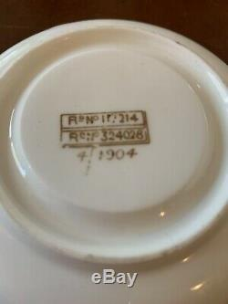 1904 White Star Line Wisteria Pattern Porcelain Demitasse Cup And Saucer