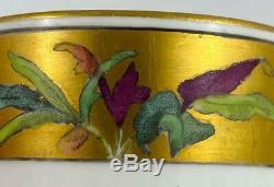 2 Antique Minton Gold Gilt Demitasse Coffee Cup & Saucer 19thc1884 Impressed Mk