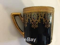 2 Carlsbad Vienna Style Items Demitasse Cup No Saucer with Lady Cherubs & 1 Plate