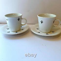 21 CLUB Pair Demitasse Cups & Saucers New York City Vintage