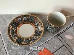 #3 Vintage GRECA Fornasetti Italian Pottery Demitasse Cup Saucer