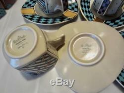 4 ROSENTHAL FLASH Dorothy Hafner Demi-Tasse 2 Cups & Saucers Studio Line Germny