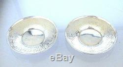 4 Vintage Antique Pure Sterling Silver Holder Saucer Lenox Demitasse Cups AS25