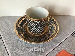 #5 Vintage GRECA Fornasetti Italian Pottery Demitasse Cup Saucer