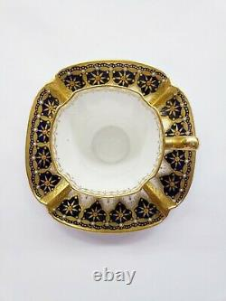 6 Antique COPELAND Porcelain Quatrefoil Demitasse Cup & Saucer jeweled gilt