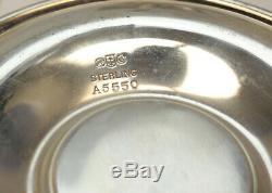 6 Gorham Sterling Silver & Lenox Porcelain Demitasse Cups & Saucers #A5549