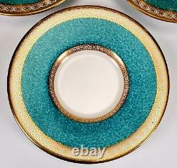 6 Sets Wedgwood Ulander Powder Turquoise Demitasse Coffee Cups and Saucers