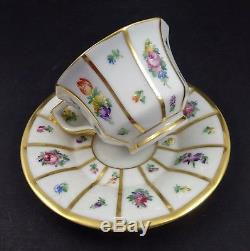 6 Vintage Royal Copenhagen Demitasse Cups & Saucers, Henriette
