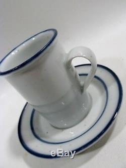 60s Danish Modern DANSK Niels Refsgaard BLUE MIST 6 Demitasse Cups & Saucers