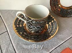 #7 Vintage GRECA Fornasetti Italian Pottery Demitasse Cup Saucer Plus Plate