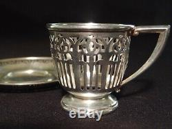 8 Demitasse Sets Whiting Co. Sterling Cups & Saucers withLenox Liners- Ex Cond