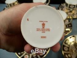 9 Royal Crown Derby Imari 2451 Demitasse Cup & Saucer Sets MINT 1968-69