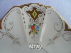 A Shelley Diamonds 11642 Queen Anne shape demitasse cup & saucer C. 1928
