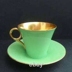 A scarce Shelley Art Deco 11781 Regent shape demitasse cup & saucer C. 1930
