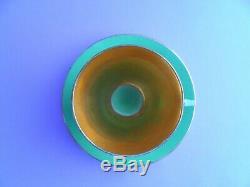A striking Shelley Art Deco Vogue pattern 11754 demitasse cup & saucer. C1930