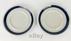 ARABIA Finland Anemone Ulla Procope Blue Demitasse Cups Saucers Lot of 2