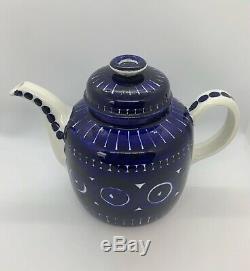 ARABIA Finland VALENCIA Teapot Set ULLA PROCOPÉ With 4 Demitasse Cups & Saucers
