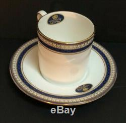 AYNSLEY English China BLUE ORIENT Demitasse Espresso Cup/Saucer 12 Pc Set withBox