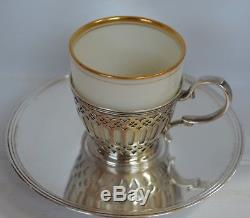 Antique 1909 Sterling Tiffany & Co Demitasse Cup and Saucer 5 Available