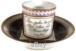 Antique 19C Nymphenburg Germany Cabinet Demitasse Cup & Saucer Tasse Untertasse