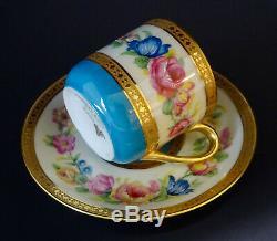 Antique Ahrenfeldt Limoges Demitasse Cup & Saucer