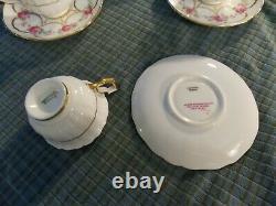 Antique CAULDON LTD ENGLAND HENRY MORGAN & CO Demitasse Cup & Saucer SET Of 4 VG