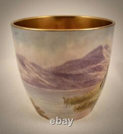 Antique Cauldon Demitasse Cup & Saucer, Longhorn Steer