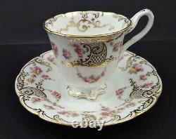 Antique Cauldon Demitasse Cup & Saucer, Tiny Roses