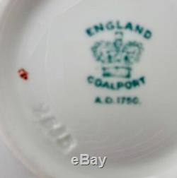 Antique Coalport Cup & Saucer Demitasse Hand Enameled & Rich Gilding