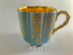 Antique Coalport Davis Collamore Limited Edition Demitasse Cup and Saucer