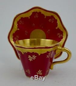 Antique Coalport Demitasse Cup & Saucer A