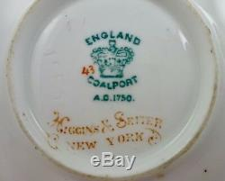 Antique Coalport Demitasse Cup & Saucer B