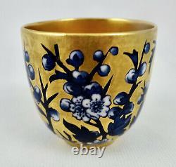 Antique Coalport Demitasse Cup & Saucer, Cherry Blossoms
