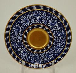 Antique Coalport Demitasse Cup & Saucer, Flow Blue