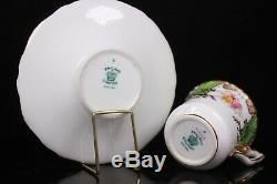 Antique Coalport Green Batwing Demi Tasse Cup and Saucer Circa 1890