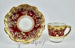 Antique Coiffe Limoges Demitasse Cup & Saucer