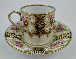 Antique Crown Staffordshire Demitasse Cup & Saucer, Made for Tiffany