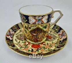 Antique Derby Demitasse Cup & Saucer, Persian Style