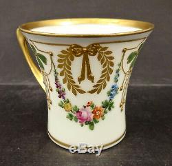 Antique Dresden Demitasse Cup & Saucer, Art Nouveau