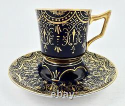 Antique Dresden Trembleuse Demitasse Cup & Saucer