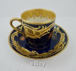Antique Haviland Limoges Demitasse Cup & Saucer, Sevres Style