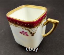 Antique Heufel Demitasse Cup & Saucer, Cherub